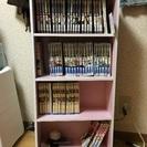 キャスター付き本棚◆裁断済の漫画