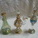 ♡エジプト製 ガラス香水ビン3本セット