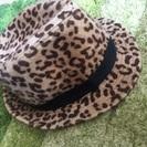 ☆美品☆ヒョウ柄帽子❤︎オシャレ
