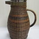 【象印】籐ポット◆天然素材◆1.0L◆茶◆卓上◆昭和レトロ