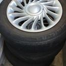 旧式bB 純正ホイール タイヤ付き4本 4穴