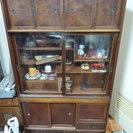 【あげます・無料】昔ながらの茶タンス アンティーク 箪笥 段違い棚...
