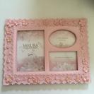 写真立て ピンク 桜模様