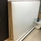 IKEAダブルベッド(フレーム+マットレス)