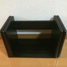 本立て 木製スライド式 黒