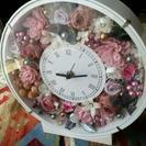 ブリザーブドフラワー時計♪