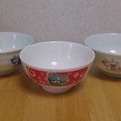 子供用お茶碗ジバニャン(1つ)、ロボット柄(2つ)