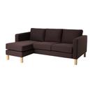 IKEA 2人掛けソファ&寝椅子 テーブル付