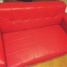 【商談中】赤いソファ