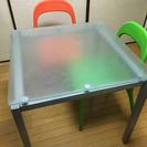 ☆取引中☆ガラス製ダイニングセット【5月末まで】