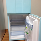 【清掃済】ブルー*2ドア冷蔵庫 ハイアール 青 水色