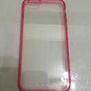 スマホ カバー iPhone6 クリア ピンク  ✩