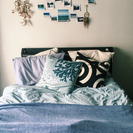 セミダブル ベッド フレーム+マットレス