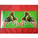 🐸ユニーク🐸カエルステッカー 2匹セット 無事カエル 蛙