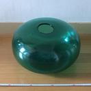 ◼︎IKEA グリーン ガラス製 オーバル花瓶 オブジェ