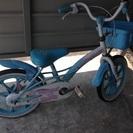 女児向け自転車(補助輪なし)16インチ