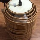 中古品 竹製照明器具 電球付き1