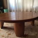 無垢材で直径1メートル高さ33センチの円形テーブル