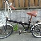 【交渉中】ジャンク品 20インチ 折りたたみ自転車 黒色