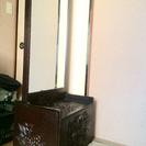 鎌倉彫りの鏡台