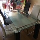 ガラスダイニングテーブルセット 使用感あり 15000円