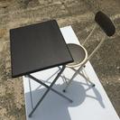 折りたたみ机☆椅子のセット【ブラウン】