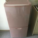 ナショナル 2ドア冷蔵庫 2004年製 ローズピンク NR-B12...