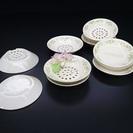 ●特価●陶器の水切り皿 訳ありの為1組¥150
