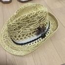 羽根つき 麦わら帽子