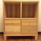 イケア 4マス 棚 引き出し付き IKEA