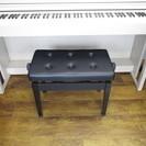 ★サマーセール2016★中古 ピアノ椅子 直脚新高低自在椅子黒