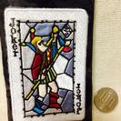 刺繍 ワッペン トランプ型 新品