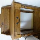 [売り切れ] アンティーク風 鏡・椅子付きドレッサー