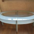楕円ガラステーブル
