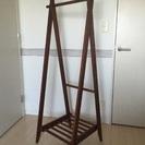 木製ハンガーラック 折りたたみ式