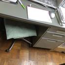 昭和の オフィス デスク  事務用 スチール製