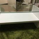 センターテーブル  白 ガラステーブル