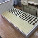 木製シングルベッドに大塚家具のマトッレス