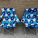 キャンプ用折り畳み椅子 2脚