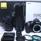 極少647回★新品級 Nikon ニコン D3100 W望遠レンズ...