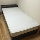 収納、コンセント付き シングルベッド