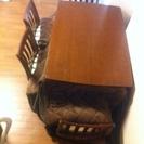 ダイニングコタツテーブル 4椅子セット