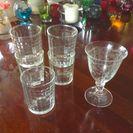 差し上げます!ボヘミアン ワイングラス1客&グラス5個 セットで