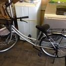 ほぼ新品 24インチ シルバー 自転車