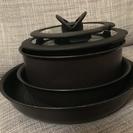 ティファール IH用フライパン、鍋セット