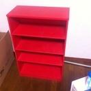 赤い収納ボックス
