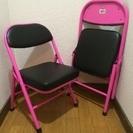【商談中】イス 2脚 ピンク 椅子 子供 脚立 代わり キャンプ ...
