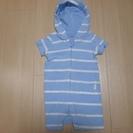 23、ベビー服 babyGap水色縞フード付き サイズ60 (男の子用)