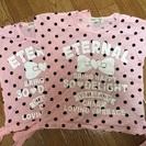 【引取限定】姉妹コーデ95cmと80cmTシャツ2枚