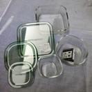 【新品・箱入り】イワキガラス 耐熱ガラス保存容器 パック&レンジ角...